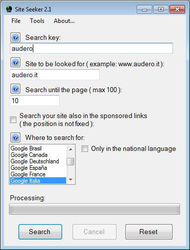 Windows 7 Site Seeker 2.2.2 full